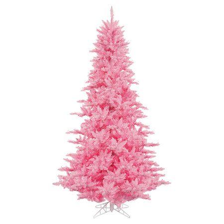 Pre-Lit Faux Pink Fir Tree. woah