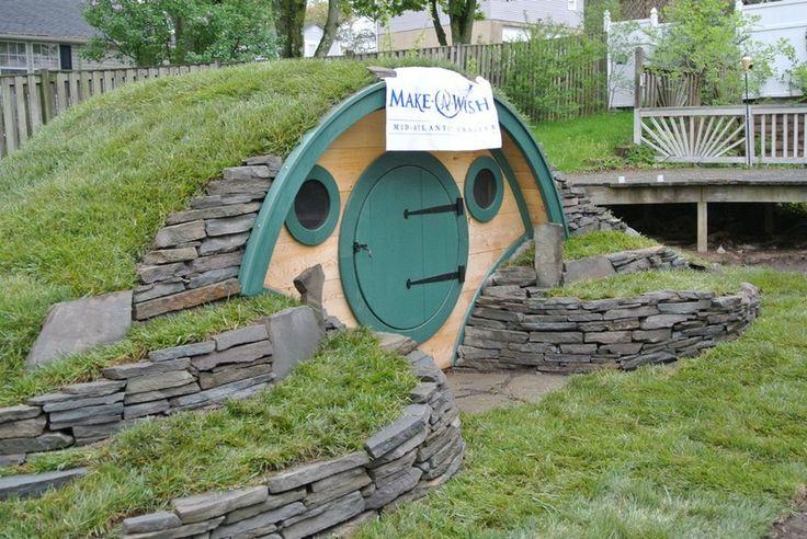 Grain bin playhouse google search hobbit ideas for How to build a hobbit hole playhouse