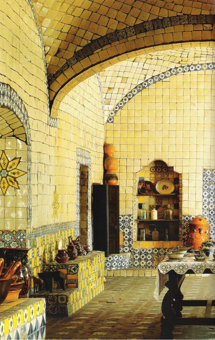 Kitchen Of A Former Convent 17th Century Mexico Pinning The Past Pinterest 17th