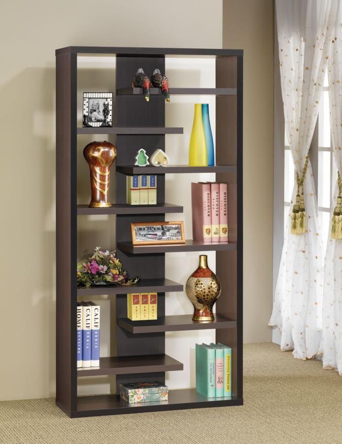 Coaster Cappuccino Open Shelf Bookcase Las Vegas Furniture Online