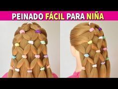 Peinados Faciles para Niñas - Trenzas con Liga y Coletas - YouTube