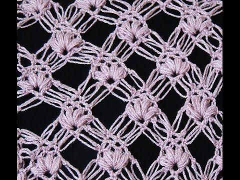 Crochet : Punto Esponjoso y Salomon Recto.  Parte 1 de 2