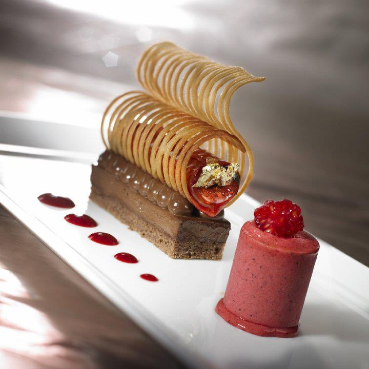 Contemporary cold plated dessert pastry pinterest for Decoration 31 decembre