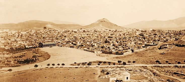 Panorama of Athens, ca. 1870 | Exatracted from a larger imag… | Flickr