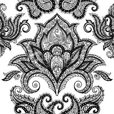paisley background pattern Royalty Free Stock Vector Art Illustration