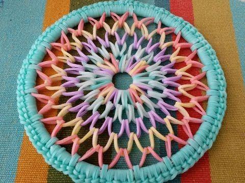 Rainbow Loom (4 inch) Dreamcatcher  ~SPED UP TUTORIAL~. Link download: http://www.getlinkyoutube.com/watch?v=fL8VKw1msoQ