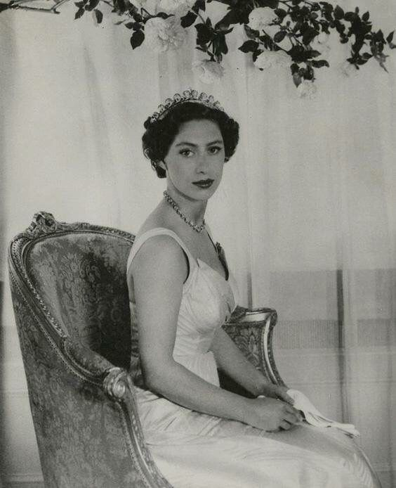 Princess Margaret in the Halo tiara