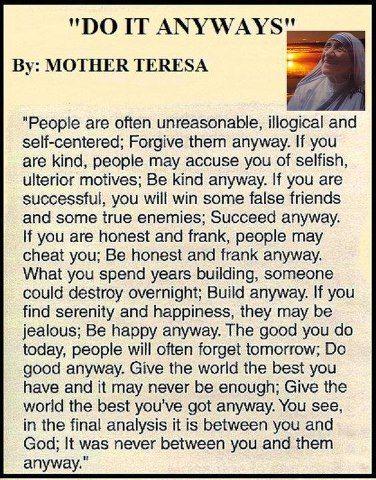 poem of Mother Teresa