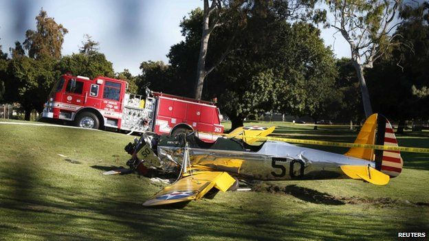 March 5 2015. US actor Harrison Ford has been injured in a small plane crash in Los Angeles, US media report.  He was reportedly piloting a single-engine plane that crashed onto a golf course in Venice, near the Santa Monica Municipal Airport.