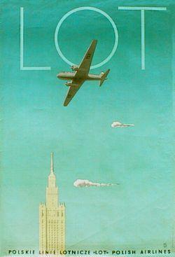 designer: Trepkowski Tadeusz poster title: LOT year of poster: 1953