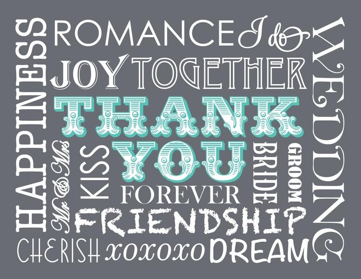 DIY Printable wedding thank you card – Free Printable Wedding Thank You Cards