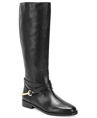 Lauren Ralph Lauren Jenny Tall Shaft Pull-On Riding Boots in Dark Brown