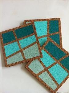 Sottobicchieri in sughero-DIY cork coasters