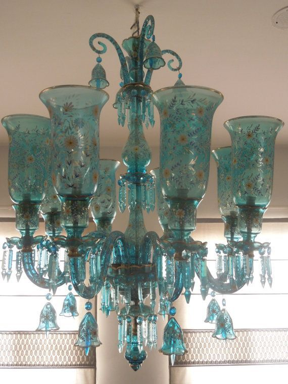 image result for turquoise chandelier light fixture - Turquoise Chandelier Light
