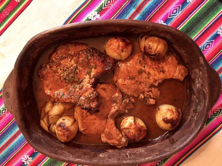 Cerdo al horno con ají. Picante