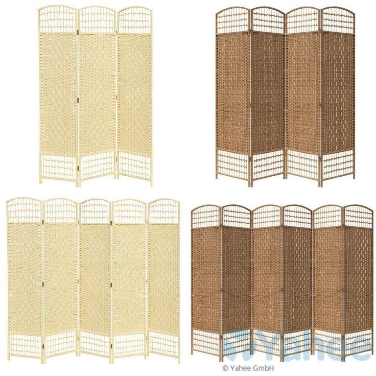 Paravent Raumteiler Trennwand Sichtschutz spanische Wand 6-teilig 39,89