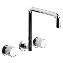 Bath - Bath - Vito Ceramic Disc Wall Sink Tap Set 250mm 93790