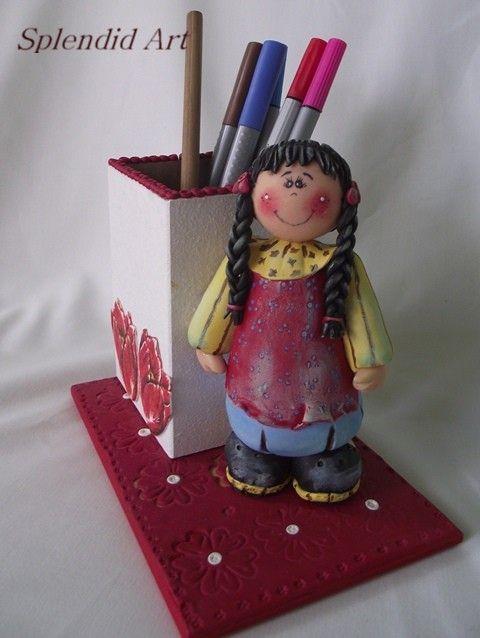 suport creioane decorat manual