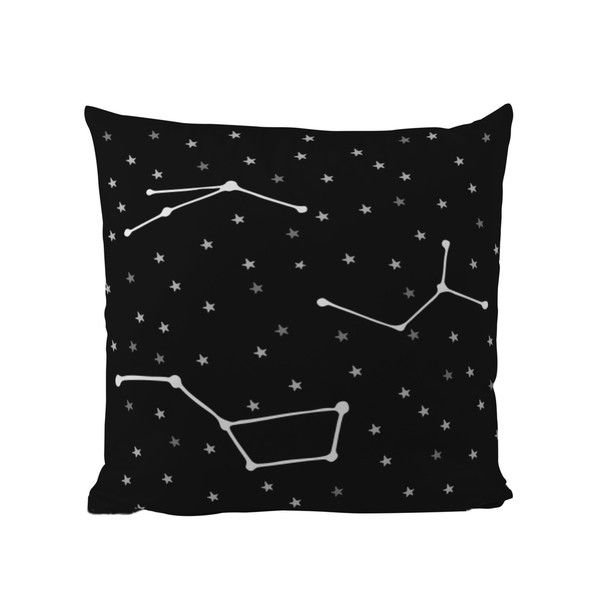 Polštář Black Shake Star Constellations, 40x40 cm