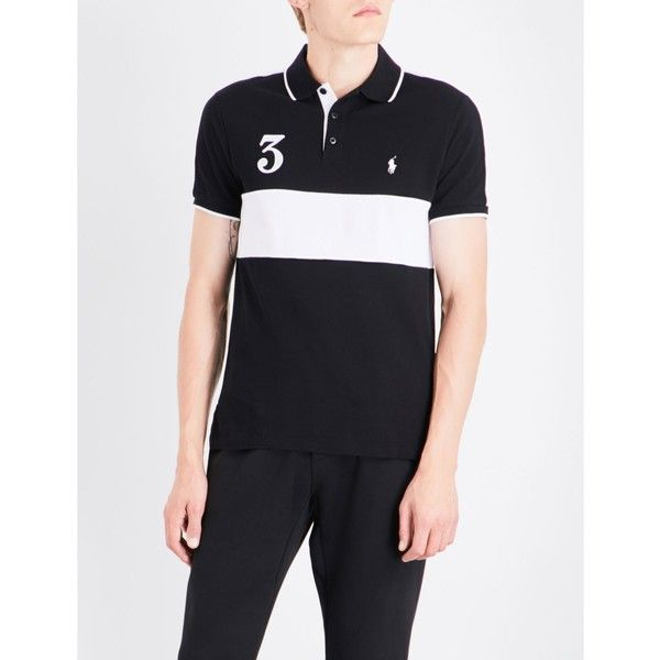 POLO RALPH LAUREN Slim-fit embroidered cotton-mesh shirt (2,230 MXN) ❤ liked on Polyvore featuring men's fashion, men's clothing, men's shirts, mens shirts, mens short sleeve polo shirts, mens slim fit polo shirts, mens collared shirt and men's cotton polo shirts