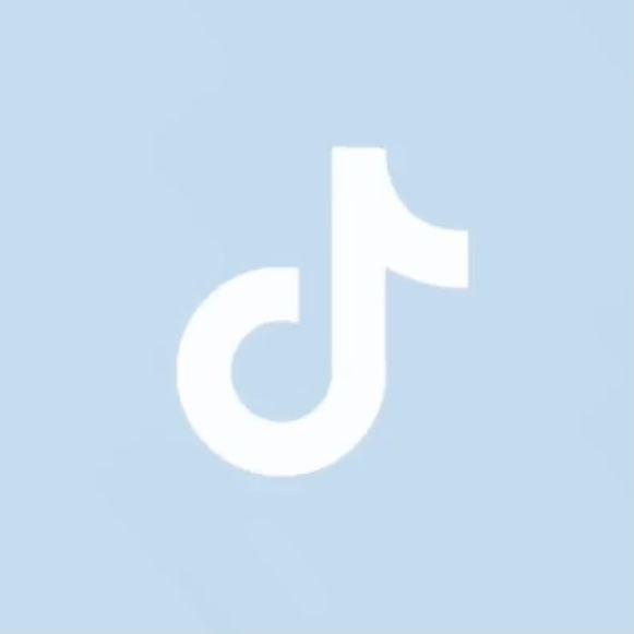 Ios14 Aesthetic Pale Blue Tiktok App Icon App Icon Iphone Wallpaper App Iphone Photo App