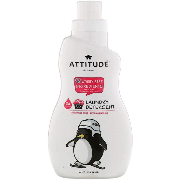 Attitude Little Ones Laundry Detergent Fragrance Free 33 8 Fl