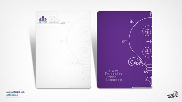 Notebooks Branding (Gurukul Notebooks) by Atma Studios , via Behance