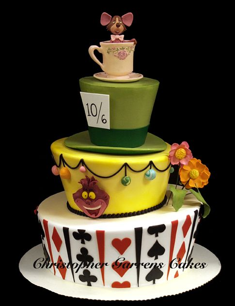 Alice in Wonderland Tea Party cake by Christopher Garrens