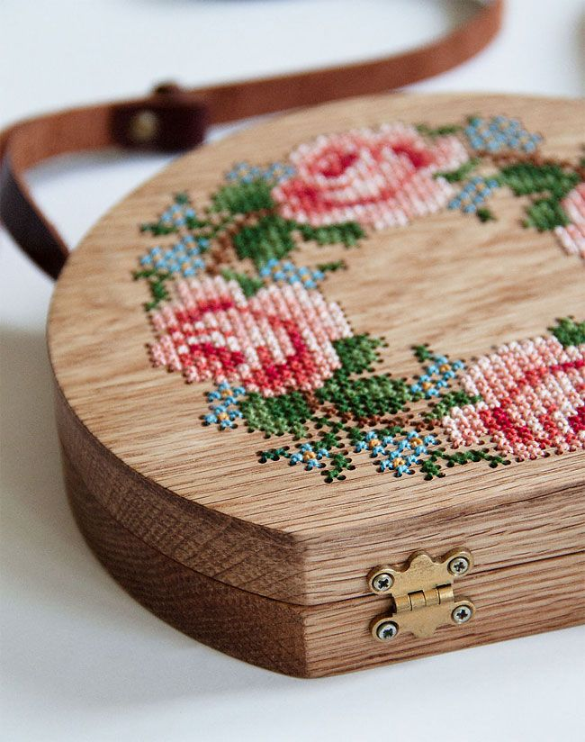 wearable-wooden-bags-that-blends-with-nature-patterns #embroidery #kanaviçetabl…