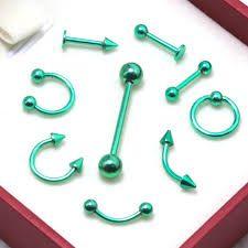 Resultado de imagen para piercings verde agua