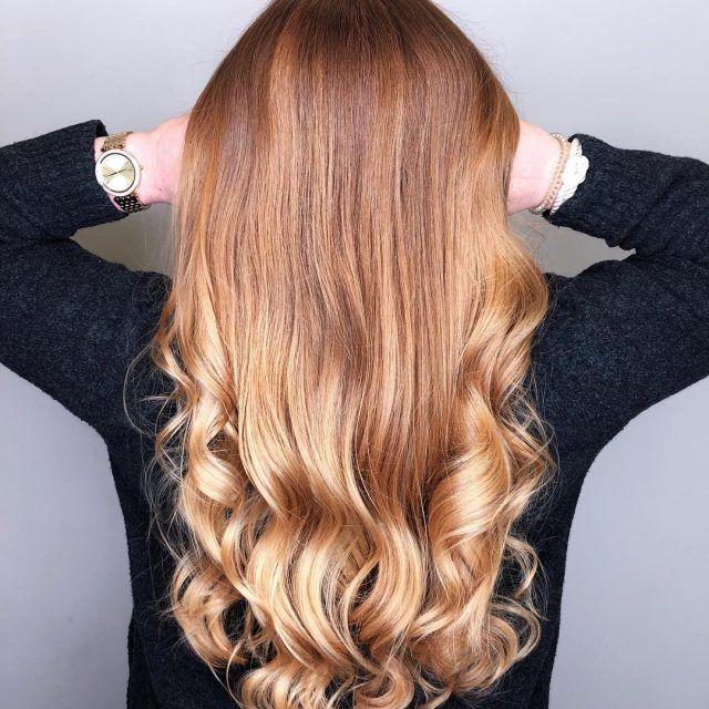 Strähnen mit kurze blonden haare rote Rote haare