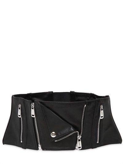 JEAN PAUL GAULTIER - HIGH WAIST LEATHER CORSET BELT #style #fashion #accessories