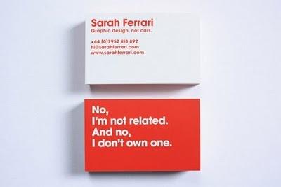 Ferrari Business Card. Haha.