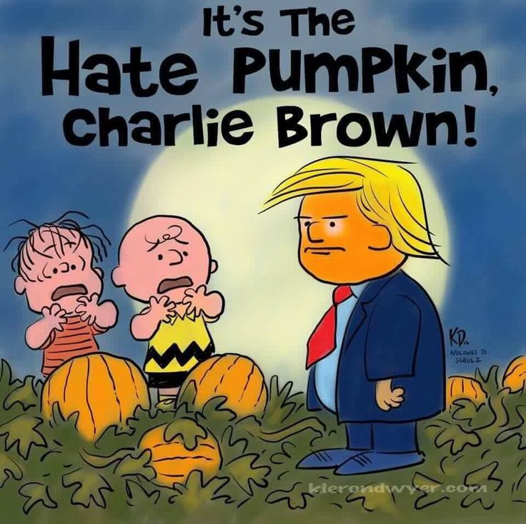 It's the Hate Pumpkin, Charlie Brown!