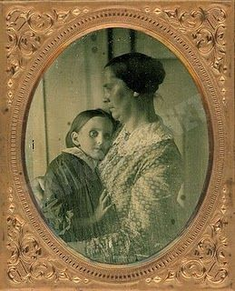 Mother and child. Post-mortem photography.