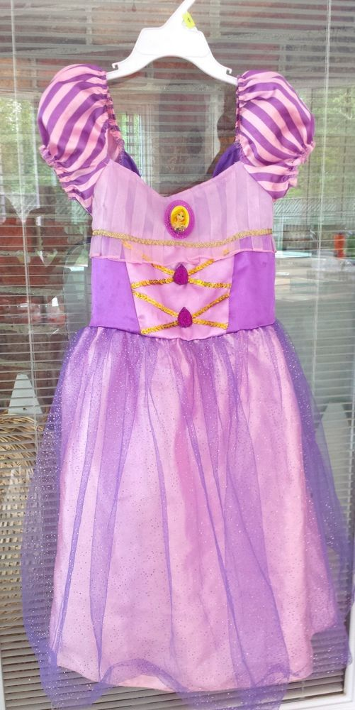 Disney Rapunzel Tangled Dress Birthday Halloween Disneyland Ballerina 4T-6x  #Disney #costume #Halloween #disneyprincess