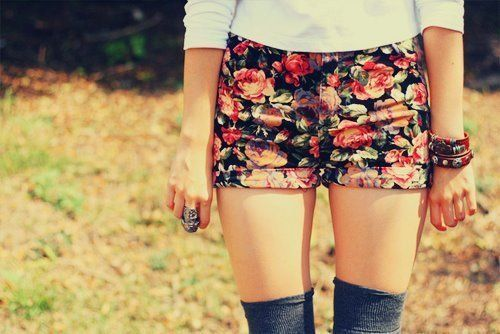 Floral shorts: Floral Shorts, Fashion, Style, Clothes, Dream Closet, Cute Shorts, Summer, Flower Shorts