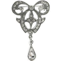 Spilla stile vittoriano in argento 925 con Elementi Swarovski® qvc-moda
