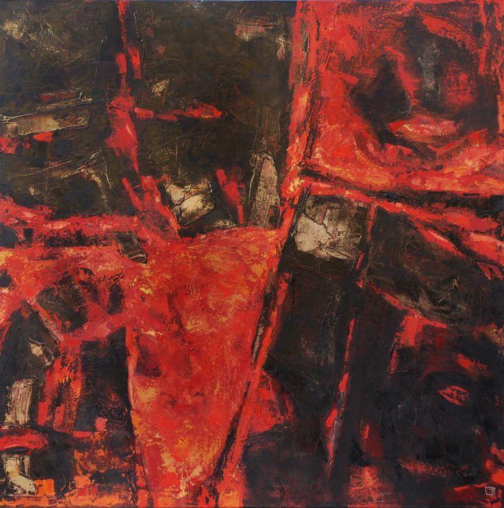Lava 1 de 2 oil on canvas 80 x 80 cm 2008
