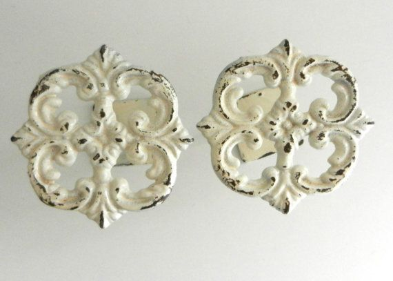 Shabby Chic Curtain Tie Backs - French Country Curtain Tiebacks - Cottage Style Wall Decor - Window Treatment Accessory on Etsy, $25.00