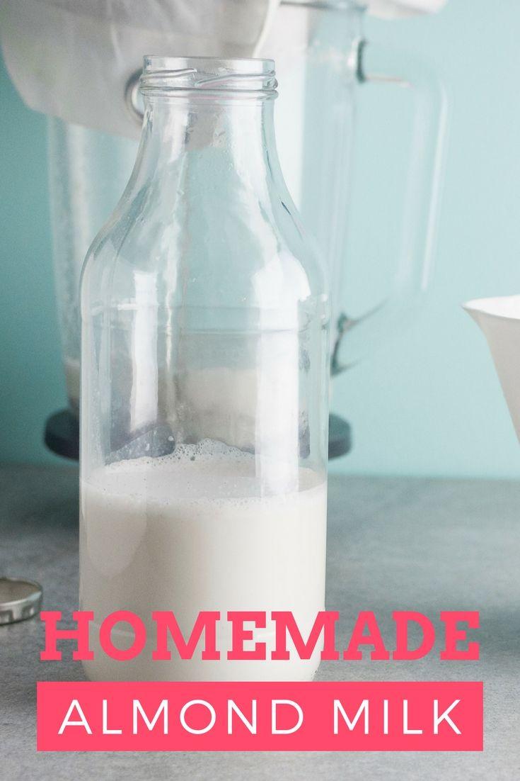 Easy homemade almond milk.
