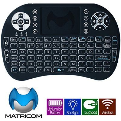 Ideal OmniKey Touch Mini Wireless Keyboard w Mouse Trackpad u Backlight for G Box