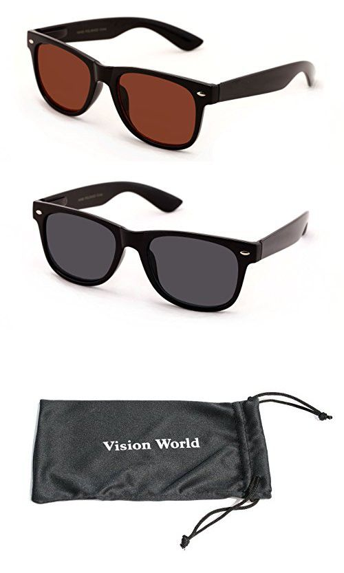 5fc455589ee0 V.W.E® Classic Outdoor Reading Sunglasses - Comfortable Stylish Simple  Readers Rx Magnification - Not Bifocal (2 pairs black and brown
