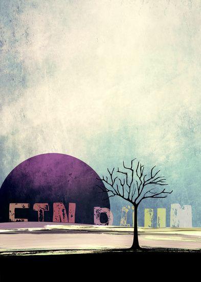 """""""Ein Baum no5HF"""" by Pia Schneider, atelier COLOUR-VISION. #kunst #art #kunstdrucke #artprint #malerei #fineart #typografie #landschaft #surreal  #geschenkidee #giftidea Kostenloser Versand nach Deutschland! Rechtzeitige Lieferung zum Fest für alle Bestellungen bis 10.12.2014 // 10% Rabatt auf Alles! ++Gültig bis 10.12.++ Code: WALLART10"""