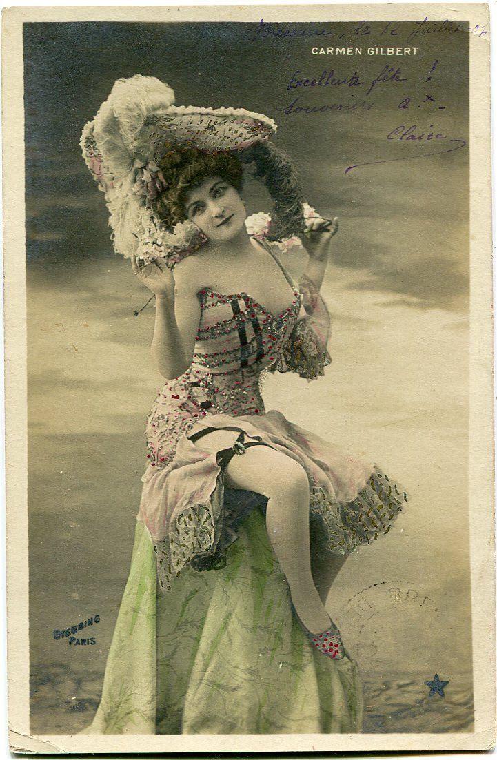 Vintage French RPPC Postcard Actress Stage Star Carmen Gilbert Stebbing 2 | eBay