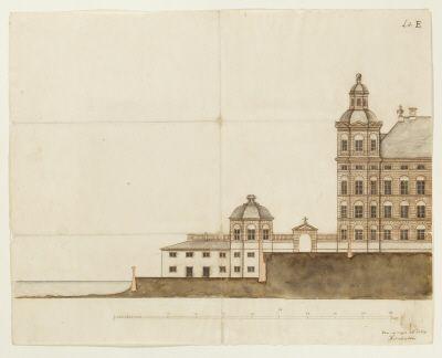 Planerad sjögård vid Skoklosters slott, från 1669.
