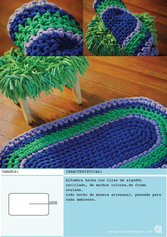 43 best alfombras images on pinterest tejidos rugs and - Alfombras para bano ...
