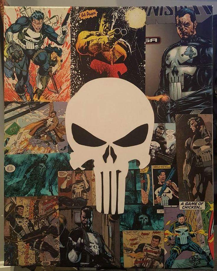 16X20 Punisher comic book art