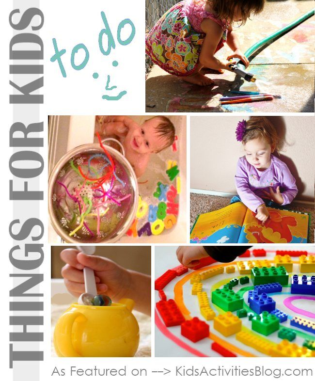Here are a few simple things to do with kids.