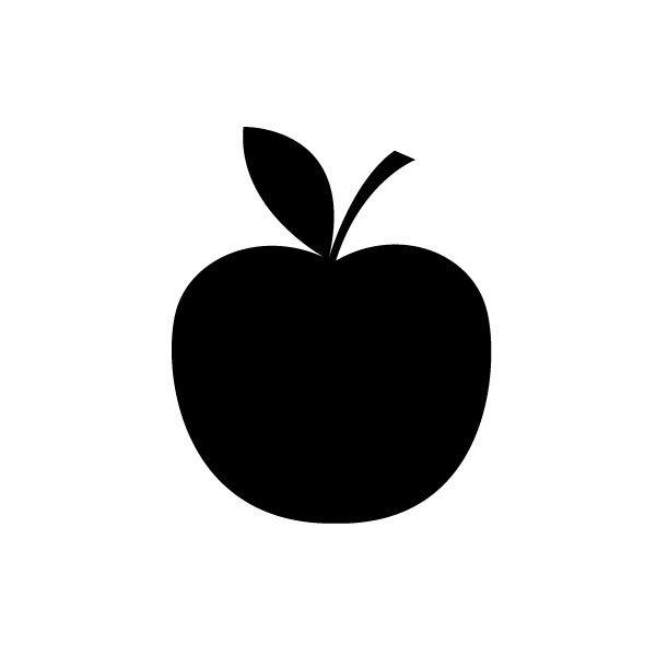 Muurtattoo Krijtbord appel